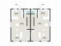 Elridge duplex 2d floorplan level 1